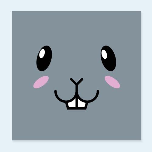 Conejo bebé (Cachorros) - Póster 20x20 cm