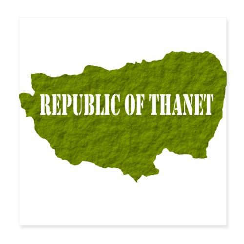 Republic of Thanet - Poster 8 x 8 (20x20 cm)