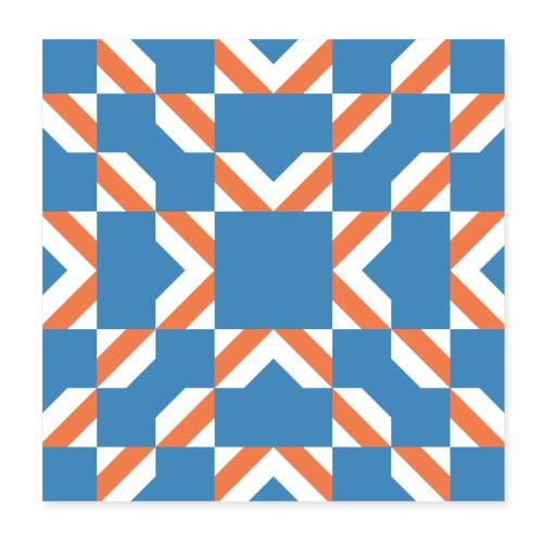 Blue Orange - Poster 20x20 cm
