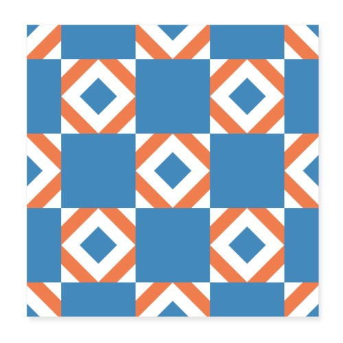 Blue Orange 2 - Poster 20x20 cm