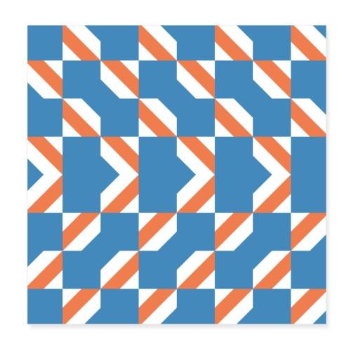 Blue Orange 4 - Poster 20x20 cm