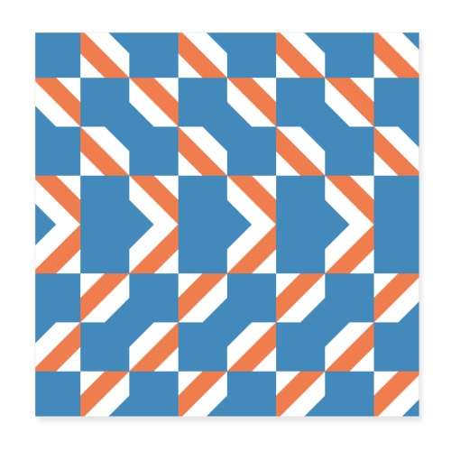 Blue Orange 4 - Poster 20x20 cm