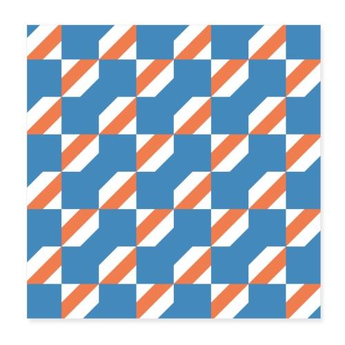 Blue Orange 3 - Poster 20x20 cm