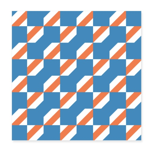Blue Orange 3 - Poster 20x20 cm