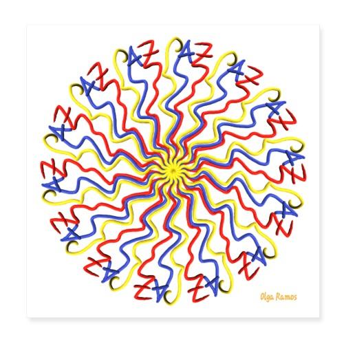 Escribo Paz (Fondo Blanco) - Póster 20x20 cm