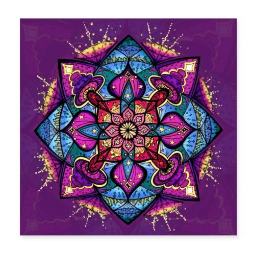SoulArt Mandala Inspiration - Poster 20x20 cm