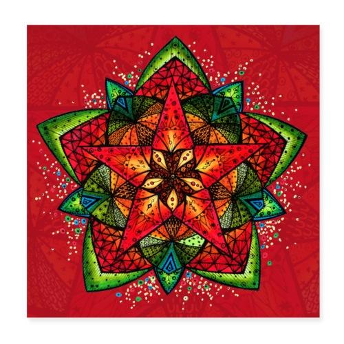 SoulArt Mandala Sternenfest - Poster 20x20 cm