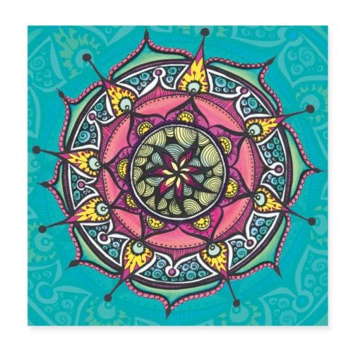 SoulArt Mandala Freude - Poster 20x20 cm