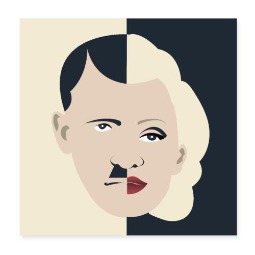 Dolfi & Marilyn - Adolf Monroe - Poster 20 x 20 cm