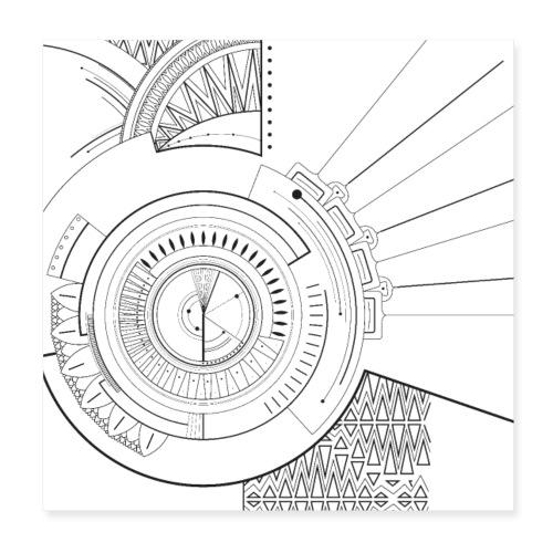 Mandala - Poster 20 x 20 cm