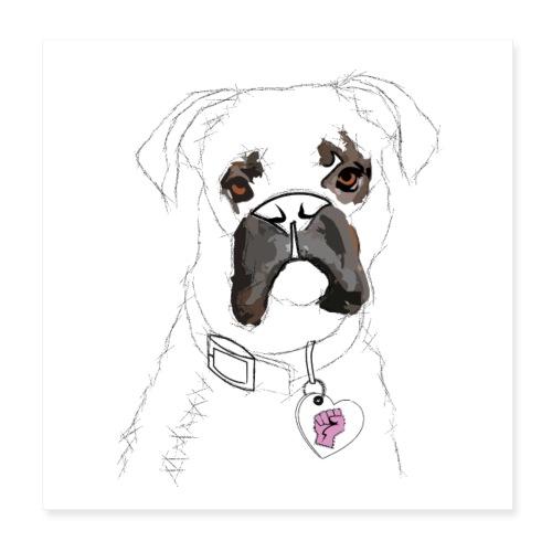 Der Hund (Poster) - Poster 20x20 cm