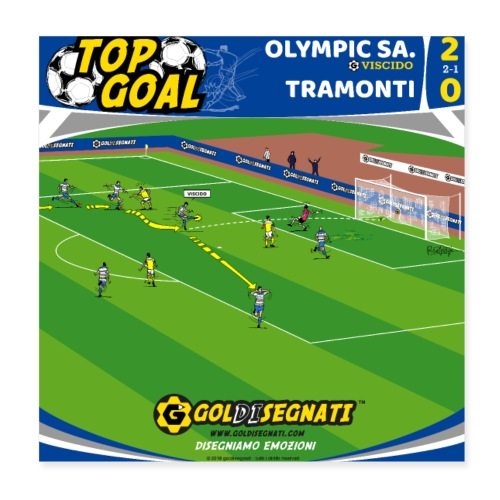 POSTER OLY-TRA 2-0 - Poster 20x20 cm