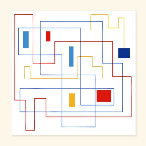 Daedalus Key - Poster 20x20 cm