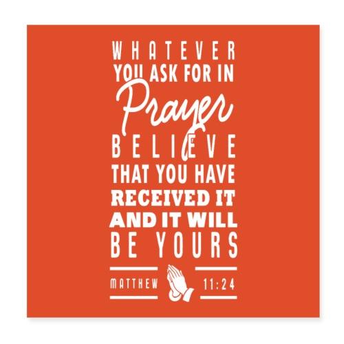 Matthew 11:24 - Poster 20x20 cm