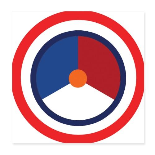 Nederland logo - Poster 20x20 cm