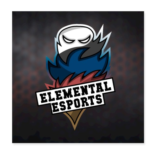 Elemental eSports | 2018 Poster Logo - Poster 20x20 cm