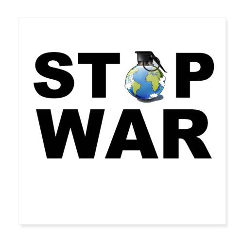STOP WAR T-SHIRT ✅ - Poster 20x20 cm