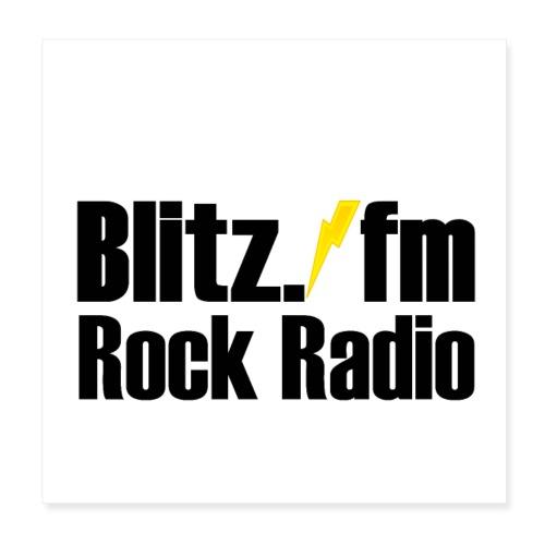 ROCK RADIO BLITZFM ✅ - Poster 20x20 cm