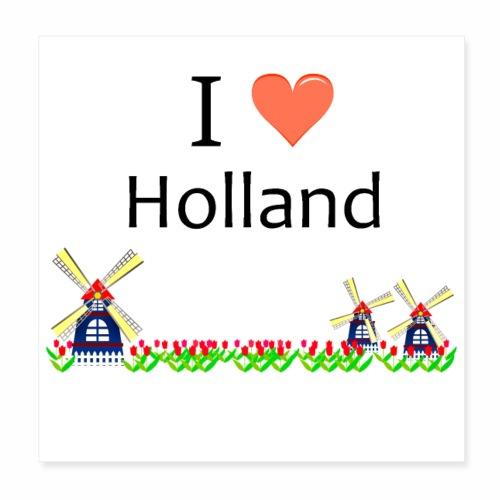 Ich liebe Holland - Poster 20x20 cm