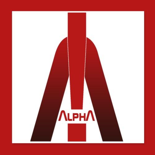 ALPHA - Winner wins! - Poster 20x20 cm