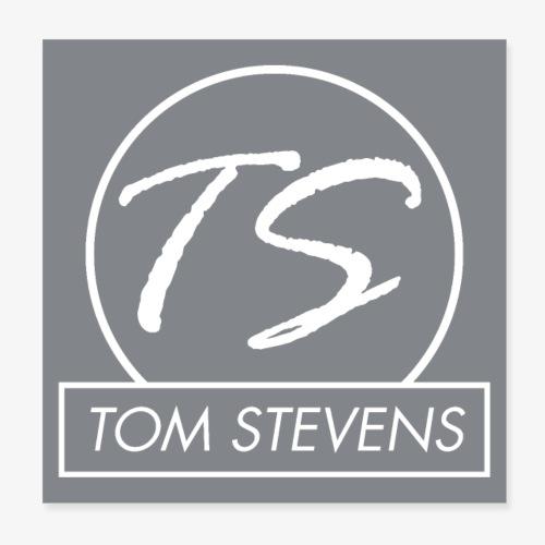 Tom Stevens Poster logo - Poster 20x20 cm