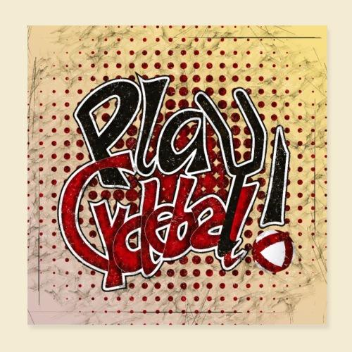 Radball | Play Cycle Ball Poster - Poster 20x20 cm