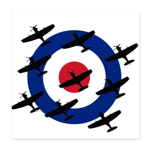 Spitfire vintage warbird - Poster 8 x 8 (20x20 cm)