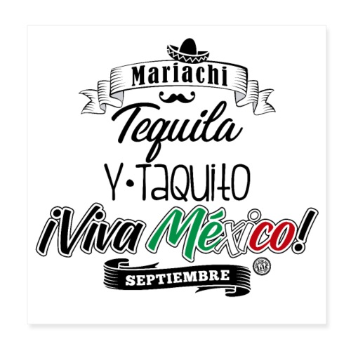 Tequila Taquito - Póster 20x20 cm