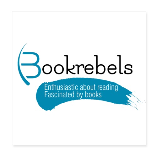 Poster - Bookrebels Enthusiastic - White - Poster 8 x 8 (20x20 cm)