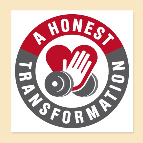 Honest Transformation Heart - Poster 20x20 cm