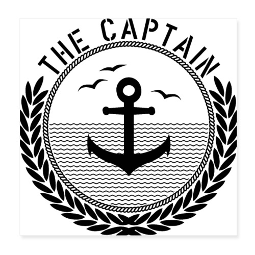 The Captain - Anchor - Poster 20x20 cm