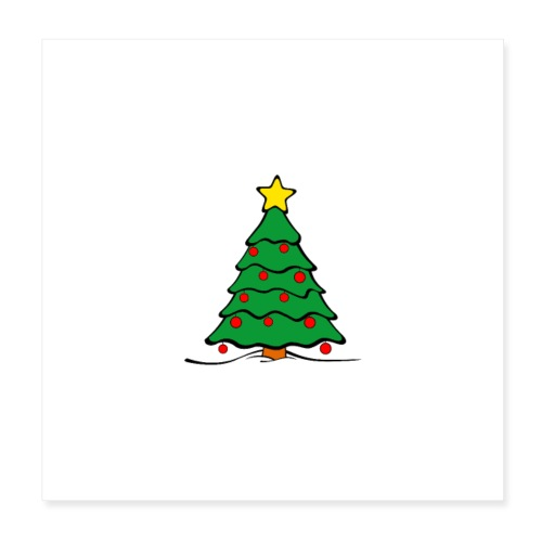 Christmas-Tree - Poster 20x20 cm