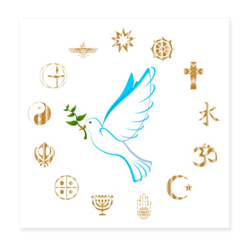 Religions for Peace - Poster 8 x 8 (20x20 cm)