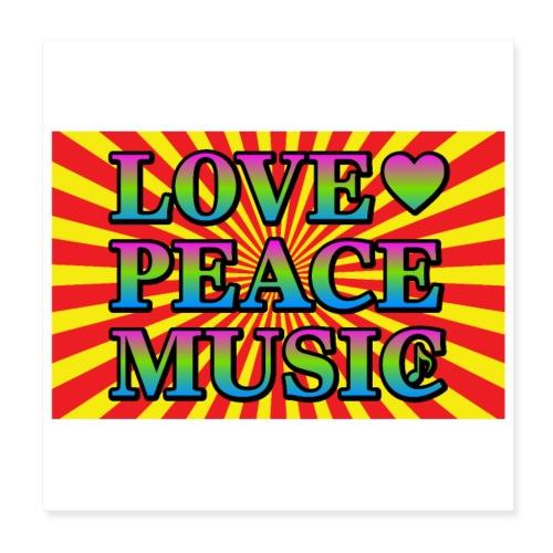 Love Peace Music - Poster 8 x 8 (20x20 cm)