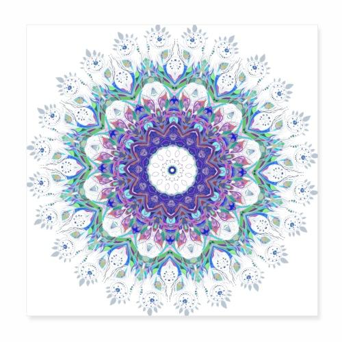 Lilla mandala pastel - Poster 20x20 cm