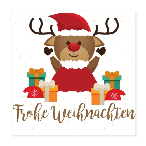 Frohe Weihnachten - Poster 20x20 cm