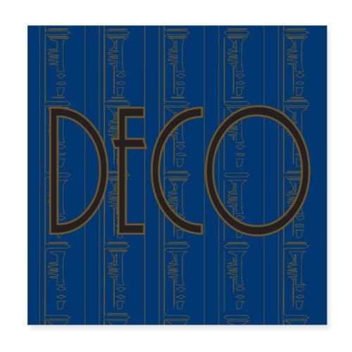 Deco print Blue Gold - Poster 8 x 8 (20x20 cm)