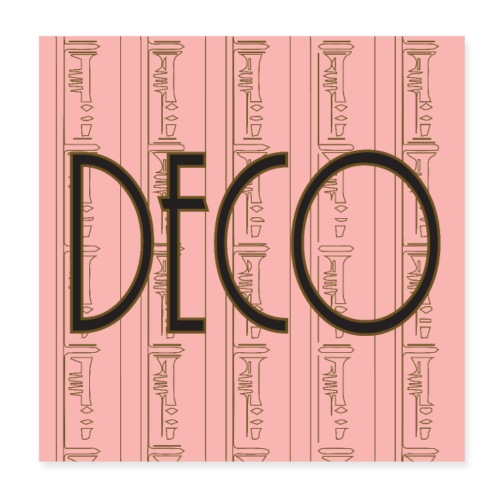 Deco Print Pink-Gold - Poster 8 x 8 (20x20 cm)