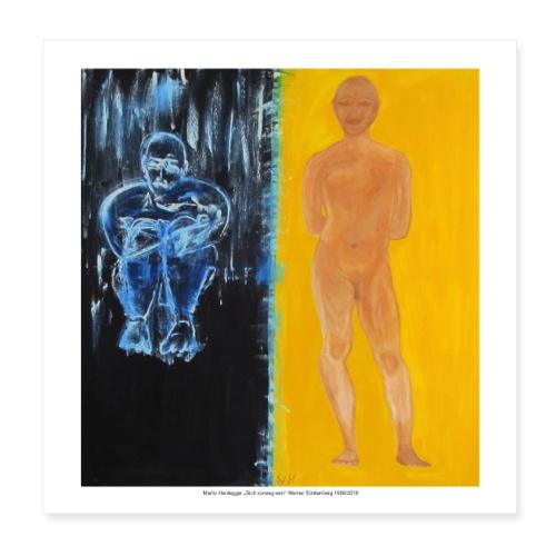 Martin Heidegger - Poster 20x20 cm