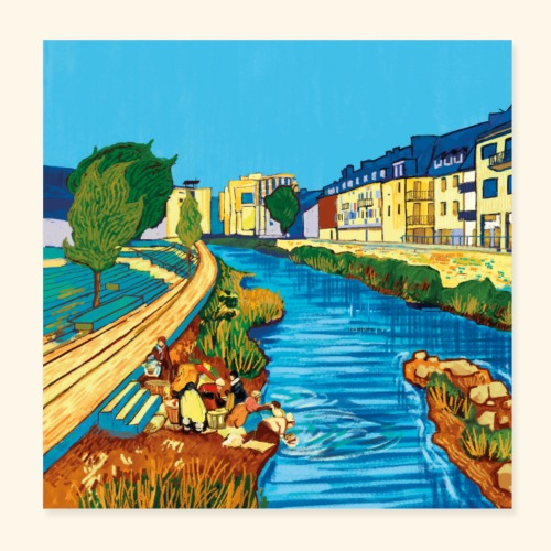 Neue Ufer - Poster 20x20 cm
