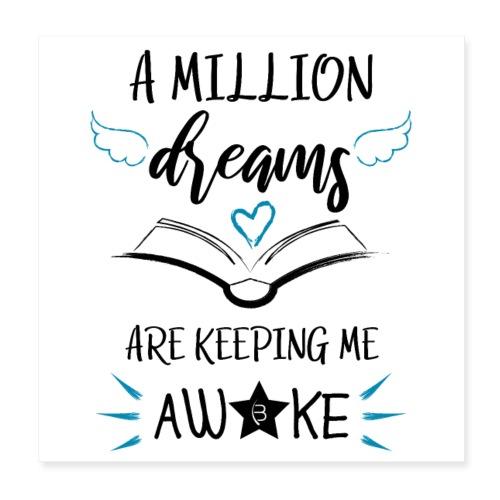 Poster - A Million Dreams - White - Poster 20x20 cm