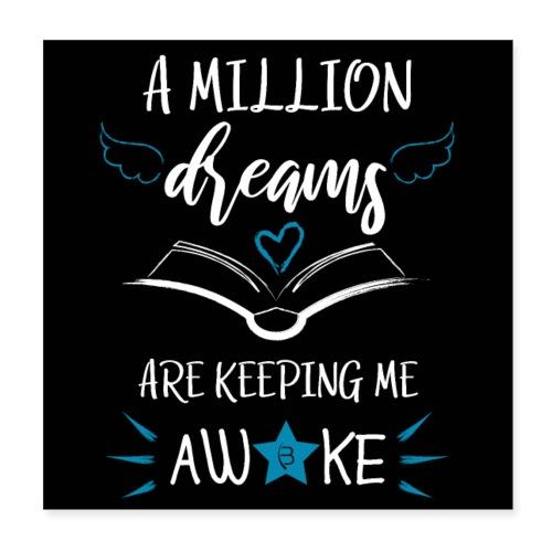 Poster - A Million Dreams - Black - Poster 20x20 cm
