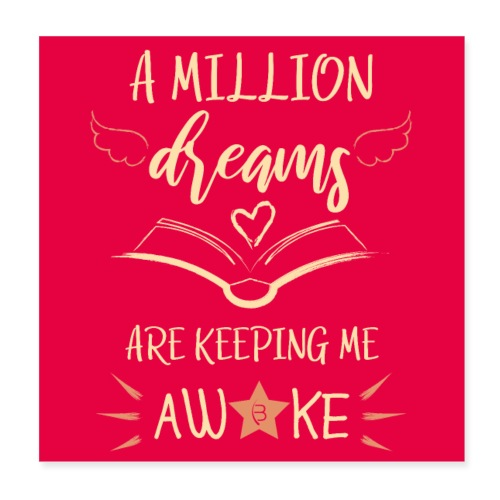 Poster - A Million Dreams - Pink - Poster 8 x 8 (20x20 cm)
