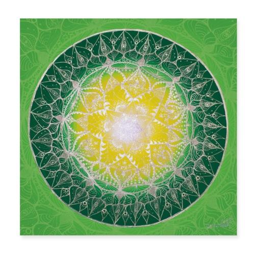 SoulArt Mandala Heilungs-Mandala - Poster 20x20 cm