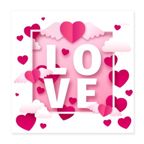 Koszulka miłość 11 - Plakat o wymiarach 20 x 20 cm