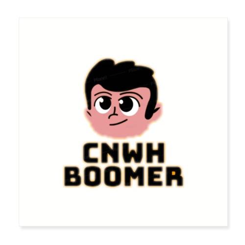 CnWh Boomer Merch - Poster 20x20 cm