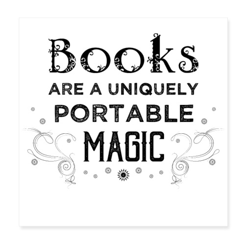 0027 book lover | Magic | Reading | Reader | book - Poster 8 x 8 (20x20 cm)