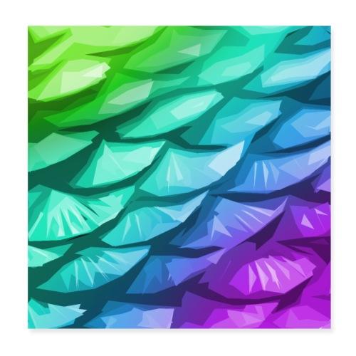 Mermaid tail - Poster 8 x 8 (20x20 cm)
