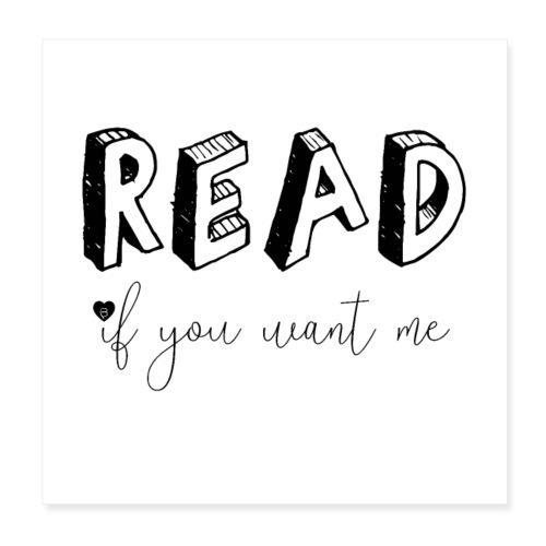 0045 Read | Book | Desire | eroticism - Poster 8 x 8 (20x20 cm)