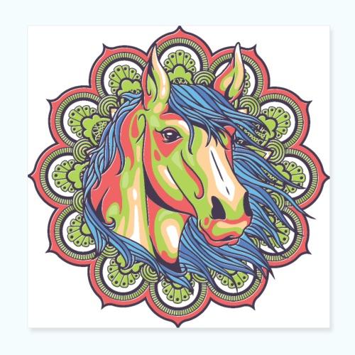 Mandala horse - Poster 8 x 8 (20x20 cm)